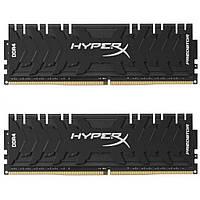 Модуль памяти для компьютера DDR4 16GB (2x8GB) 3200 MHz HyperX Predator Black Kingston (HX432C16PB3K2/16), фото 1