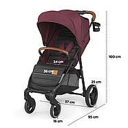 Прогулочная коляска Kinderkraft Grande 2020 Burgundy, фото 7