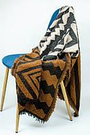Шарф-плед индийский коричневый