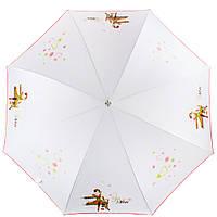 Женский зонт трость полуавтомат Airton, белый