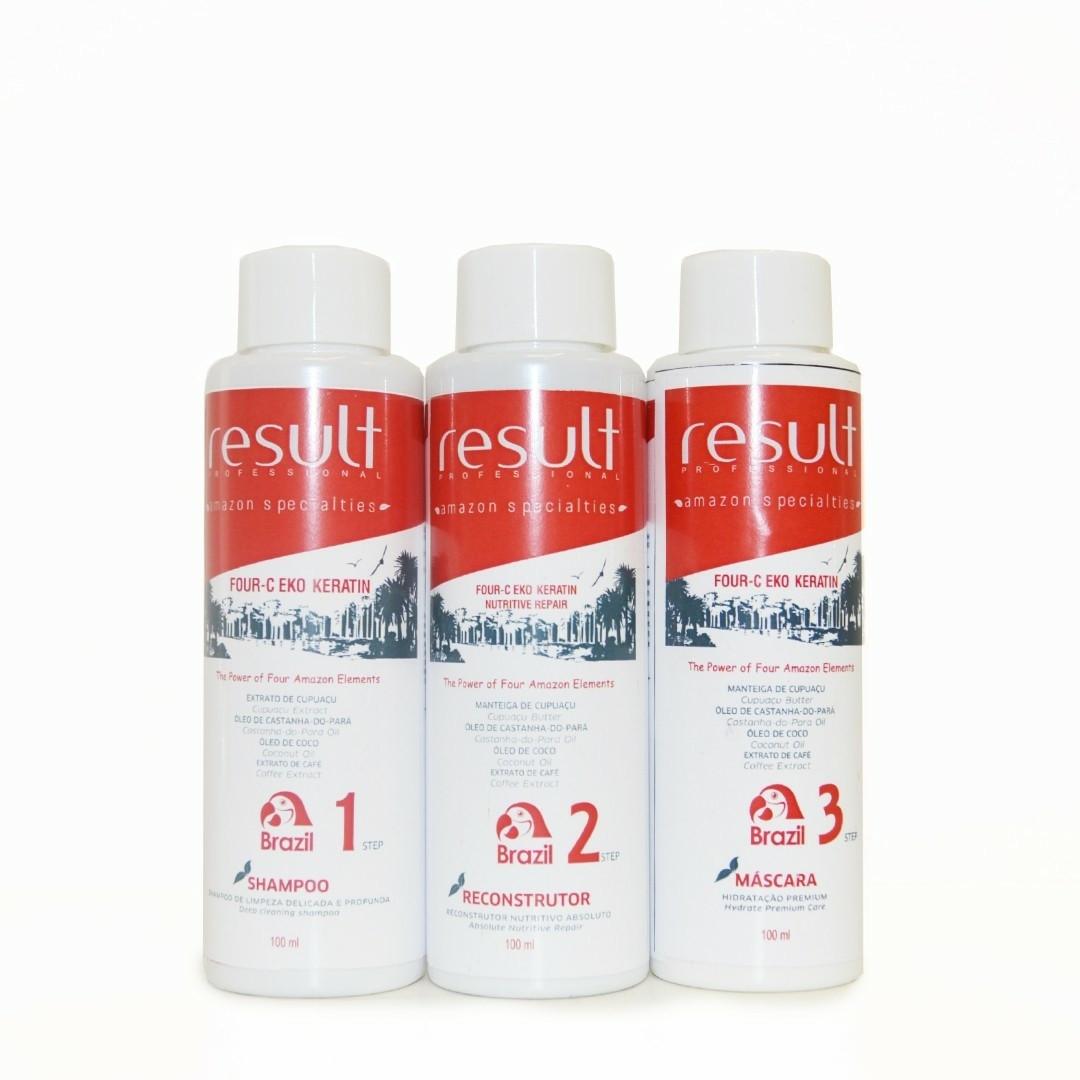 RESULT FOUR C EKO KERATIN набор для выпрямления и восстановления волос