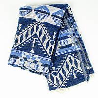 Шарф-плед индийский синий