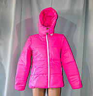 Женская куртка розвая с капюшоном