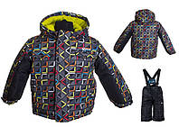 Детский зимний костюм для мальчика Salve by Gusti SWB 4860 Black. Размер 92 и 98.
