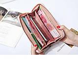 Бордовый женский кошелек-клатч на молнии код 326, фото 2