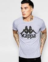 Мужская футболка Каппа, брендовая футболка Kappa спортивная, качественный хлопок.