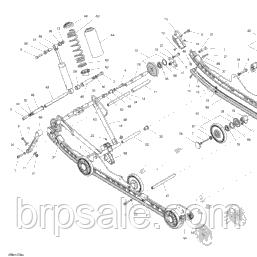 Винт M6X70 Ski-Doo BRP Screw hex. flange 6921 *HEX. FLANGE SCREW M6X70