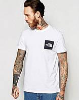 Мужская футболка Зе Норс Фейс, брендовая футболка The North Face спортивная, качественный хлопок.