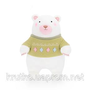 Мягкая игрушка Мишка в зеленом свитере, 24 см Metoys, фото 2