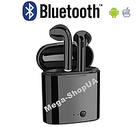 Беспроводные Bluetooth наушники TWS i7S Mini Earphones Black. AirPods с кейсом для зарядки i7S TWS