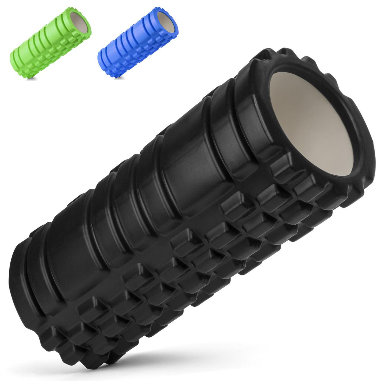 Роллер массажный Foam Roller Черный