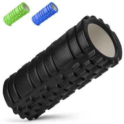 Роллер массажный Foam Roller Черный, фото 2