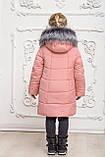 Зимове пальто на дівчинку, пудровое, 146, фото 2