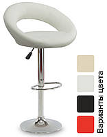 Барный стул Hoker Forza/Faro-ECO регулируемый стульчик кресло для кухни, барной стойки Белый