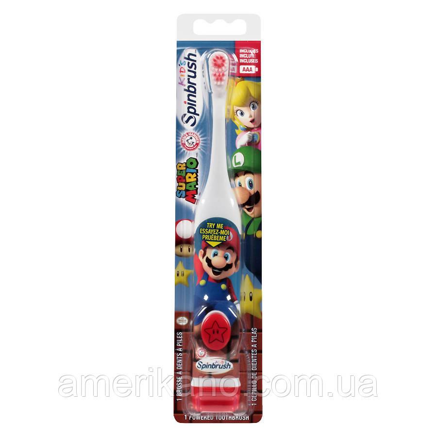 Детская электрическая зубная щетка SpinBrush Kids Arm & Hammer Spinbrush Toothbrush из США. Оригинал.