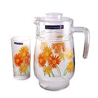 Комплект Luminarc Aime Marguerite для напитков (кувшин1,6л, стаканы 270мл-6шт) G1984