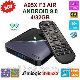 TV-Приставка A95X F3 Air 4GB/32GB S905X3 (Android Smart TV Box)
