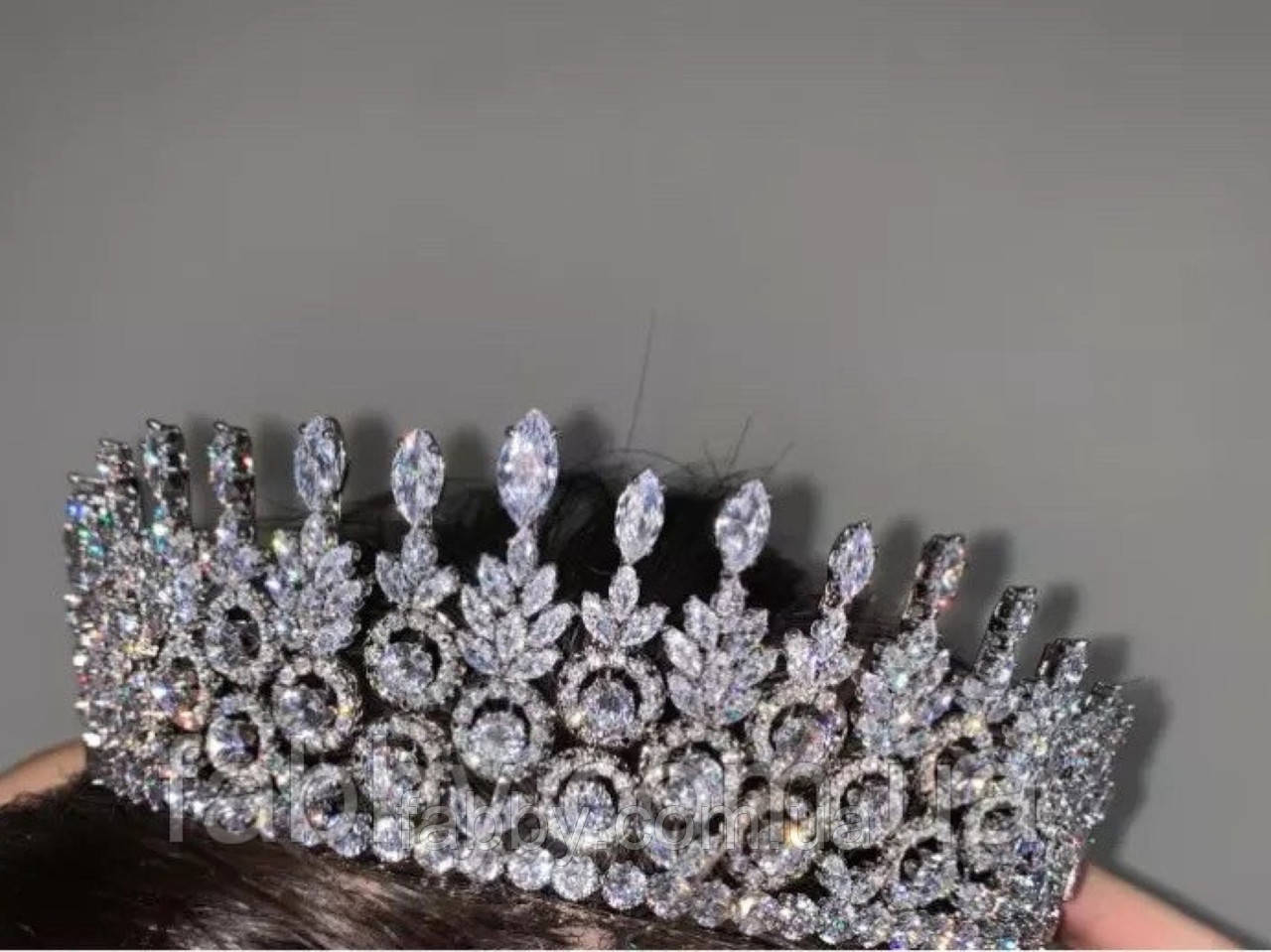 VIP люкс якість з ювелірними діамантами цирконами та посрібленням (5см)