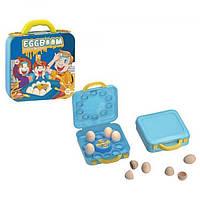 Игра Взрыв яиц - лоток, яйца 10 шт., Рулетка, чемодан 21,5-2-6,5 см., B3106