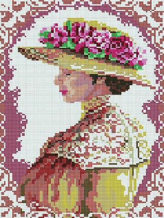 Алмазная мозаика BRUSHME Аристократическая дама 40x30 см.