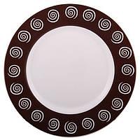 Тарелка обеденная круглая Luminarc Sirocco Brown 24,6 см