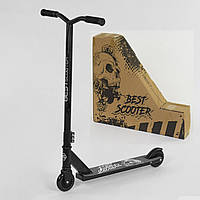 Самокат трюковый Best Scooter двухколесный колеса 100 мм Черный  (74495701)