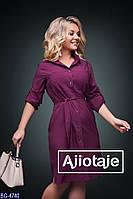 Практичное платье - рубашка с карманами арт 209