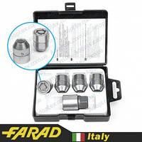 FARAD STARLOCK | Гайки секретки М12x1.5x30мм Конус Вращающееся кольцо (Chevrolet, Daihatsu, Hyundai, Kia