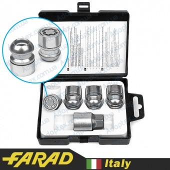 FARAD STARLOCK | Гайки секретки М12x1.5x30мм Сфера Вращающееся кольцо (Acura, Honda) ключ 19