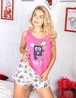 Молодежный комплект для дома пижама майка и шорты ТМ Antana модель 36 (S M L XL)