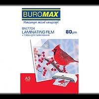 Пленка для ламинирования Buromax 80 микрон A3 303x426 мм 100 шт/уп (BM.7704)