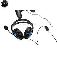 XTZ наушники с микрофоном для PS4 игровая гарнитура проводные наушники с микрофоном 3,5 мм