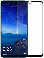 Защитное стекло Samsung A10/M10 5D + олеофобное покрытие горилла глас 6