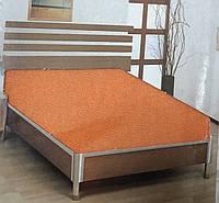 Простынь на резинке трикотажная оранжевый MOZ Турция 100х200+25 см