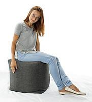 Кресло-мешок, пуфик, кубик из ткани Микро-рогожка 45*45 см. разные цвета