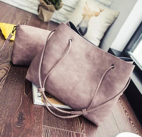 Женская сумка-шоппер с кошельком