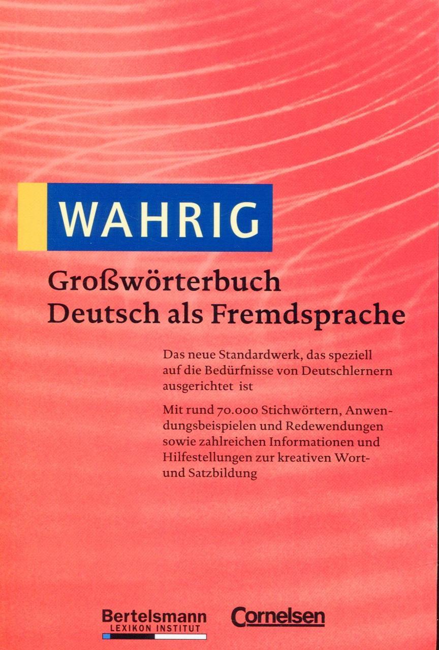 WAHRIG. Großwörterbuch Deutsch als Fremdsprache