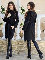 Женское Кашемировое Пальто с поясом, фото 1