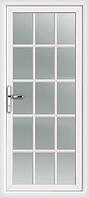 Пластиковые двери  белые шпроссы без замка, фото 1
