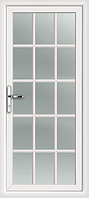 Пластиковые двери  белые шпроссы без замка