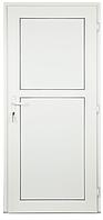 Пластиковая межкомнатная дверь (белая) с замком