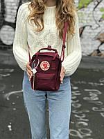 Рюкзак в стиле Fjallraven Kanken mini бордовый