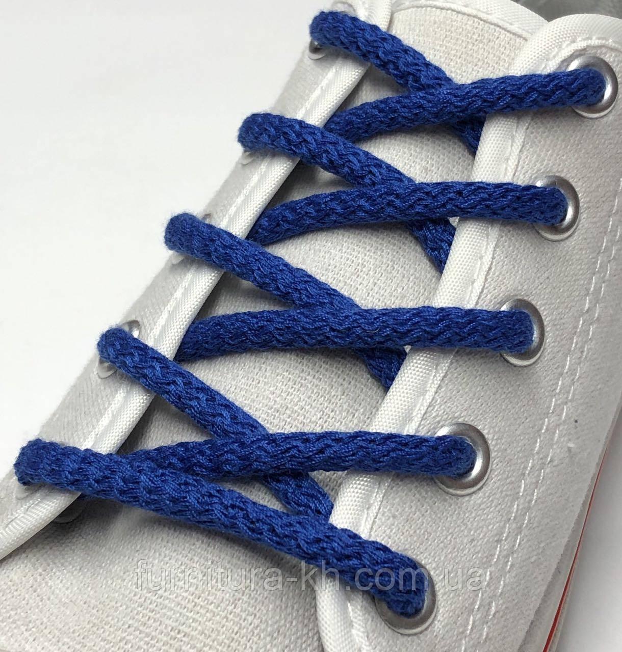 Шнурок Простой Круглый.Длинна 1,2 метр цвет Электрик (толщина 5 мм)