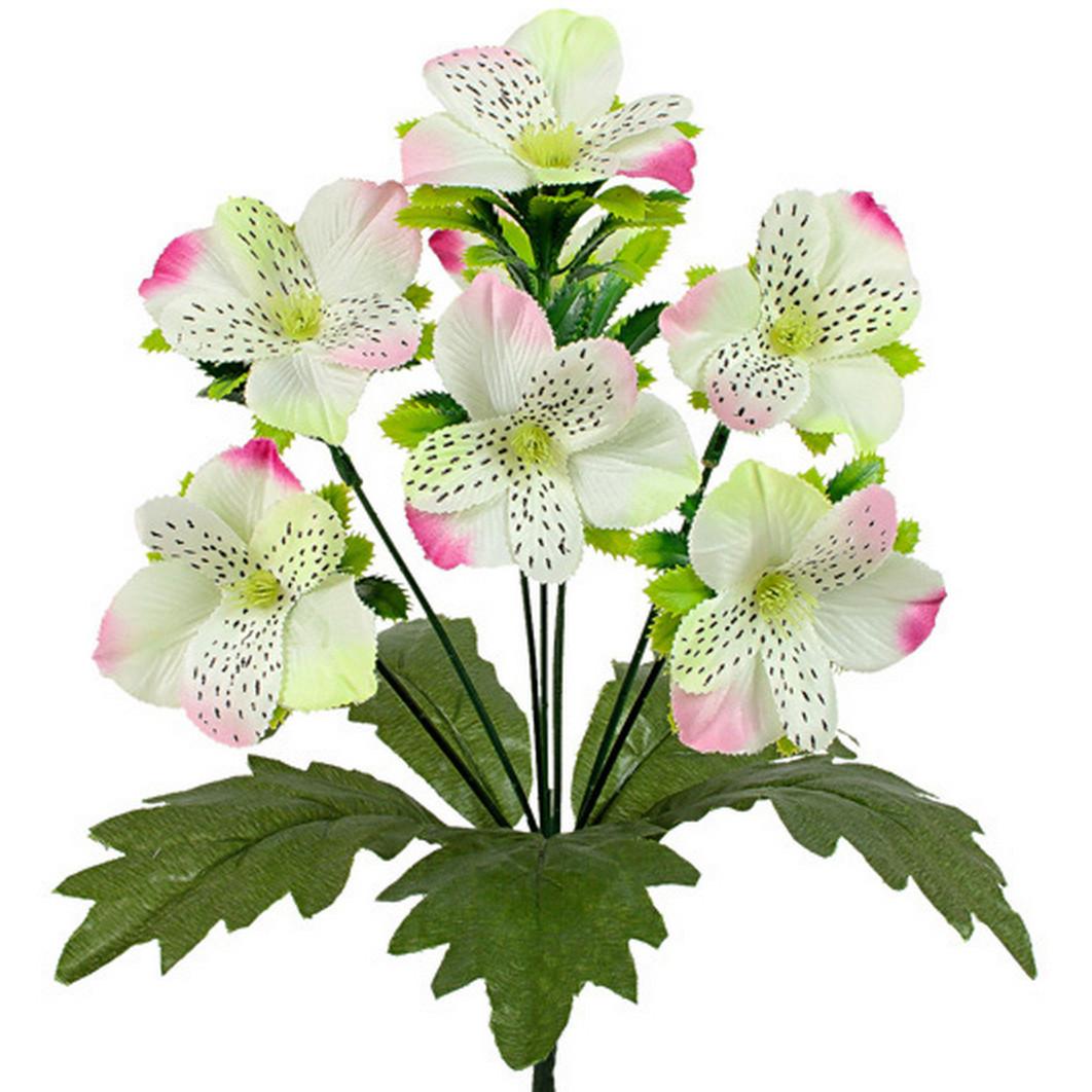 Букет орхидеи с подкустником, 30см(24 шт. в уп)
