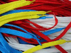 Шнурки Плоские Цветные(Синтетика)