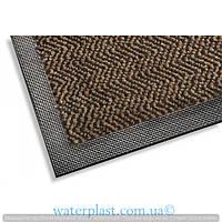 Грязезащитный коврик на резиновой основе коричневый,k401_60х85_brown