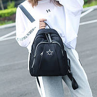 Рюкзак женский стильный городской маленький спортивный молодежный модный текстильный ткань нейлон Сумка|черный