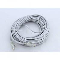 Патчкорд витая пара LAN кабель для интернета 10 м 13525-9 Серый