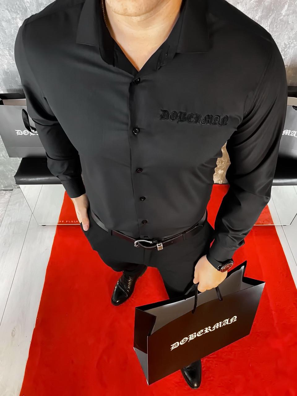 Сорочка doberman black чоловіча