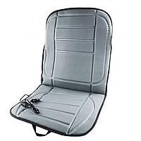 🔝 Накидка чехол на сиденье авто с подогревом (45х95см Серая) подогрев сидений в машину с доставкой | 🎁%🚚